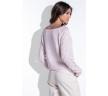 Купить в интернет-магазине розовый джемпер с ажурными рукавами Fobya F425