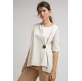Блузка А-силуэта молочного цвета Emka B2418/mercury
