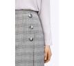 Короткая юбка в клетку с имитацией запаха Emka S822/avenue