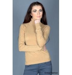 Женский бежевый свитер Yiky Fashion