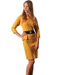Желтое платье Golub | П152-1657