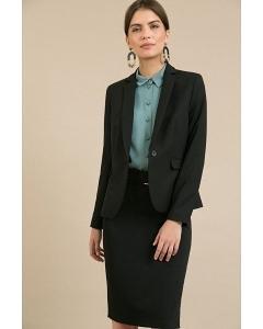Чёрная офисная юбка Emka Fashion S369/milisa