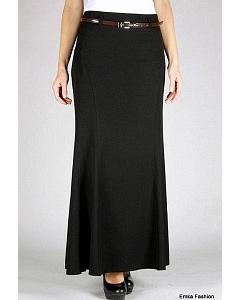 Длинная черная юбка Emka Fashion   350-klarissa