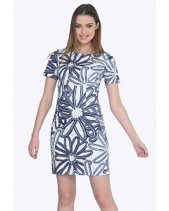 Летнее сине-белое платье Emka PL422/ilka