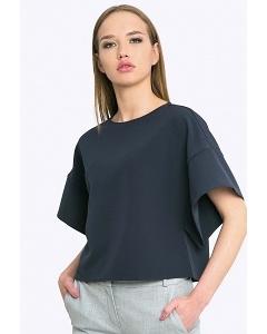 Укороченная блузка тёмно-синего цвета Emka b 2202/anara