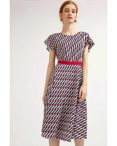 Платье-миди с геометрическим принтом Emka PL896/tentacion