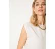 Блузка без рукавов молочного цвета Emka B2570/jessica