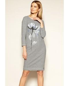Трикотажное платье с принтом Zaps Peonia