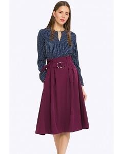 Бордовая юбка с завышенной талией Emka S702/magpie