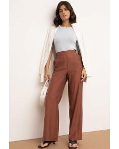 Прямые брюки терракотового оттенка Emka D210/bryson