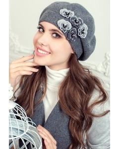 Комплект (берет и шарф) серого цвета Landre Николь