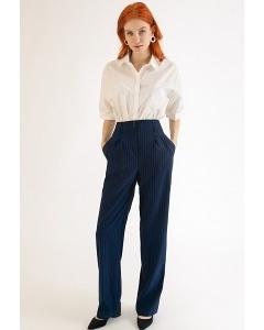 Темно-синие брюки в полоску Emka D112/rubens