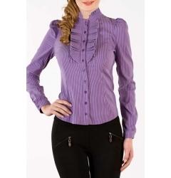 Фиолетовая офисная блузка Golub