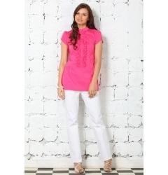 Розовая блузка из 100% хлопка