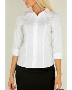 Белая офисная рубашка Emka Fashion B0172-optik