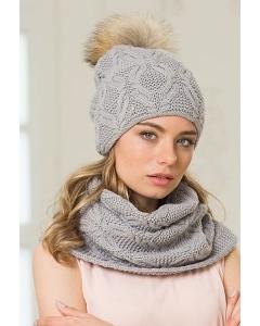 Комплект женский шапка + снуд Landre Аляска