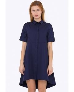 Платье-рубашка с асимметричным низом Emka PL-592/sugar