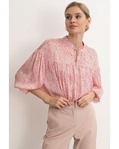 Очаровательная блузка нежного розового цвета Emka B2613/leopink