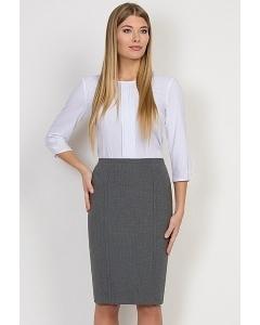 Юбка серого цвета Emka Fashion 498-slava