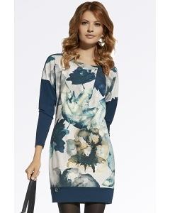 Осеннее платье с длинным рукавом Enny 220026