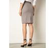 Классическая юбка-карандаш серого цвета Emka S773/hiksel