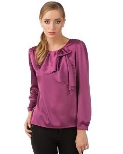 Фиолетовая блузка из шифона