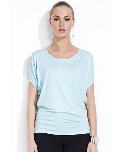 Светло-бирюзовая блузка Zaps Loris