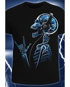 Мужская футболка X-Skeleton (Светится в темноте и ультрафиолете)