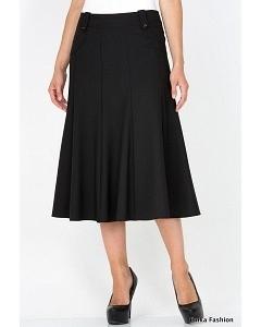 Длинная черная юбка Emka Fashion 435-brianna