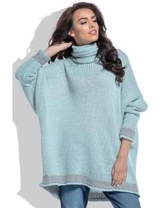 Свободный свитер с широким воротом Fobya F469