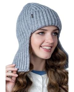 Стильная одинарная шапка-ушанка Landre Галатея