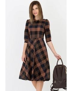 Платье в клетку Emka Fashion PL-407/kora
