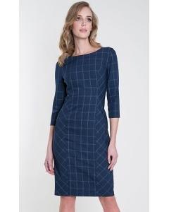 Тёмно-синее платье в клетку Zaps Candela