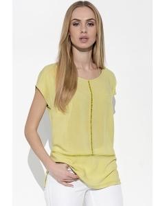 Летняя блузка салатового цвета Sunwear I17-2-19