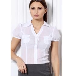Белая блузка рубашечного кроя Remix