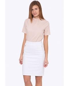 Белая хлопковая юбка Emka Fashion 686/alveta