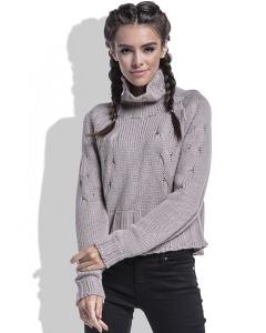 Укороченный женский свитер Fobya F440