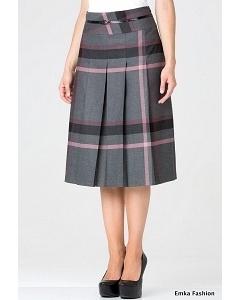 Клетчатая юбка Emka Fashion 219-70/teodora