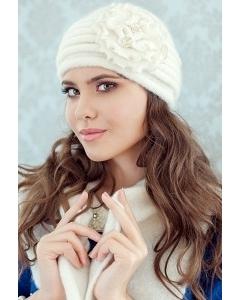 Комплект (шапка и шарф) молочного цвета Landre Дина
