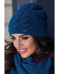 Бирюзовая женская шапка Kamea Violeta
