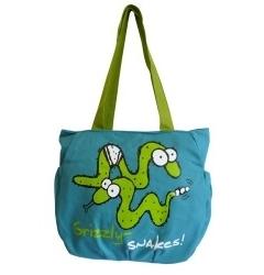 Бирюзовая сумка с зелеными змейками | ДМ-1242