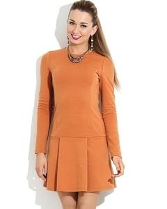 Короткое платье оранжевого цвета Donna Saggia DSP-108-60t