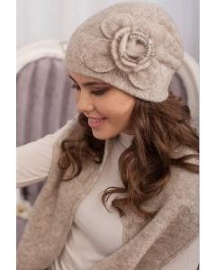 Комплект (шапка и шарф) бежевого цвета Landre Моника