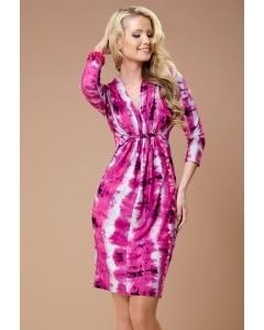 Яркое розовое платье TopDesign   B1 068