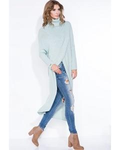 Очень длинный вязаный свитер Fobya F343