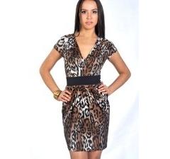 Леопардовое платье-тюльпан