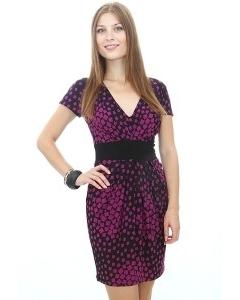 Трикотажное платье-тюльпан