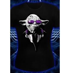 Клубная женская футболка Yoda