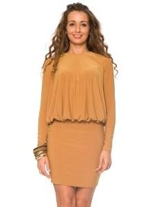 Платье горчичного цвета   DSP-62-5t
