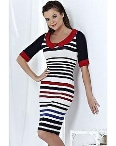Полосатое платье Topdesign | A3 047